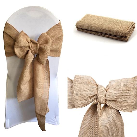 Fine Hessian Sashes Chair Cover Bows Jute Burlap Vintage Rustic Wedding Party Decor Pabps2019 Chair Design Images Pabps2019Com