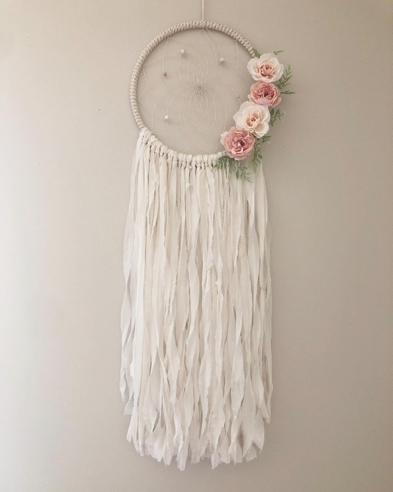 Elise Floral Dream Catcher 10 Inches
