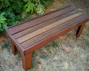 Custom Ipe Modern Outdoor Bench