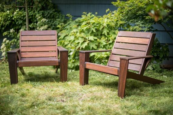 Genial Custom Ipe Modern Adirondack Chairs | Etsy