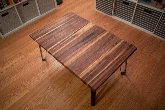 Coffee Table 36 X 24.Walnut Slant Butcher Block Coffee Table 36 X24