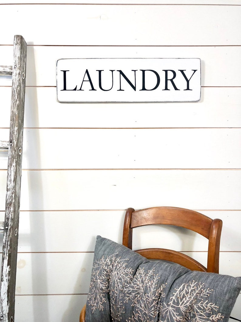 Laundry Sign Laundry Room Decor Rustic Wood Sign Sign Etsy