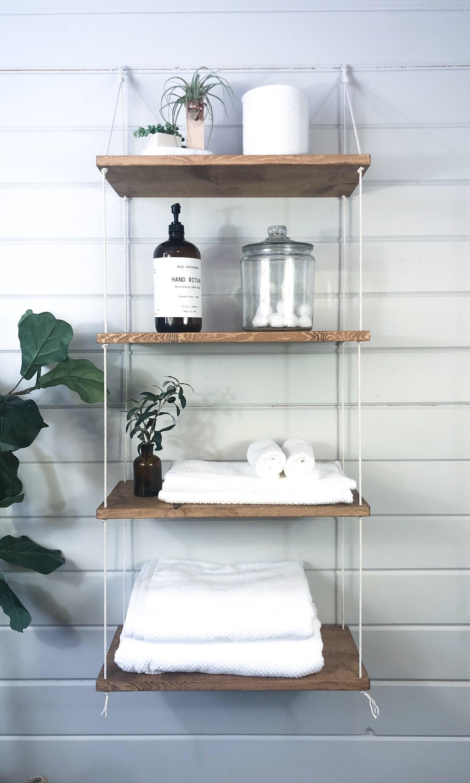 Bathroom Shelf Decor Floating, Hanging Bathroom Shelf