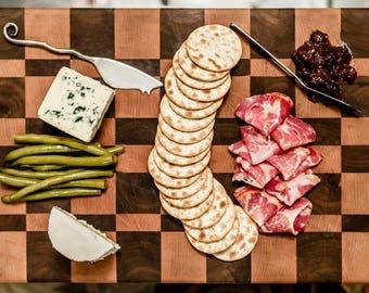 End Grain Checker Cutting Board
