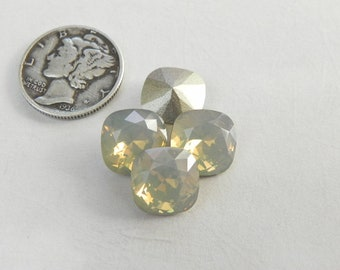 Light Grey Opal F (10mm) Swarovski 4470 Cushion Cut Stone