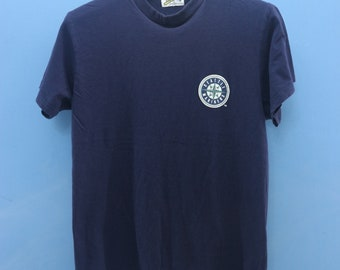 188b01afa Vintage Seattle Mariners Baseball Shirt MLB Big Logo T Shirt Top Tee Shirt  Size F