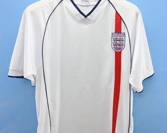 75841fe72 Vintage England Football Team Jersey Sport Shirt Soccer Jersey T Shirt