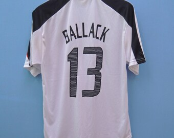7d77960ea Vintage Germany Football Team Michaeal Ballack 13 Jersey Sport Shirt