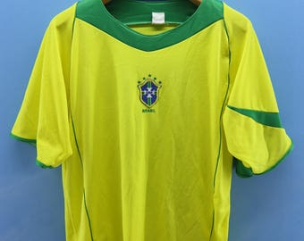 4935c89b4 Vintage Brazil Football Team Jersey Ronaldo 9 Sport Shirt Street Wear Top  Tee