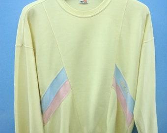 Vintage Ellesse Long Sleeve Sweatshirt Pull Over Crewneck Urban Fashion Size L