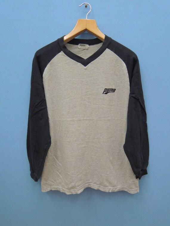 c07a0c5fe2f2c Jahrgang Puma minimalistisch Logo Sport lange Ärmel Hemd Straße tragen  Hip-Hop Street tragen Top T-Shirt