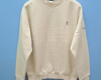 Vintage Timberland Minimalist Logo Sweatshirt Hip Hop Street Wear Pull Over Sweater Size M