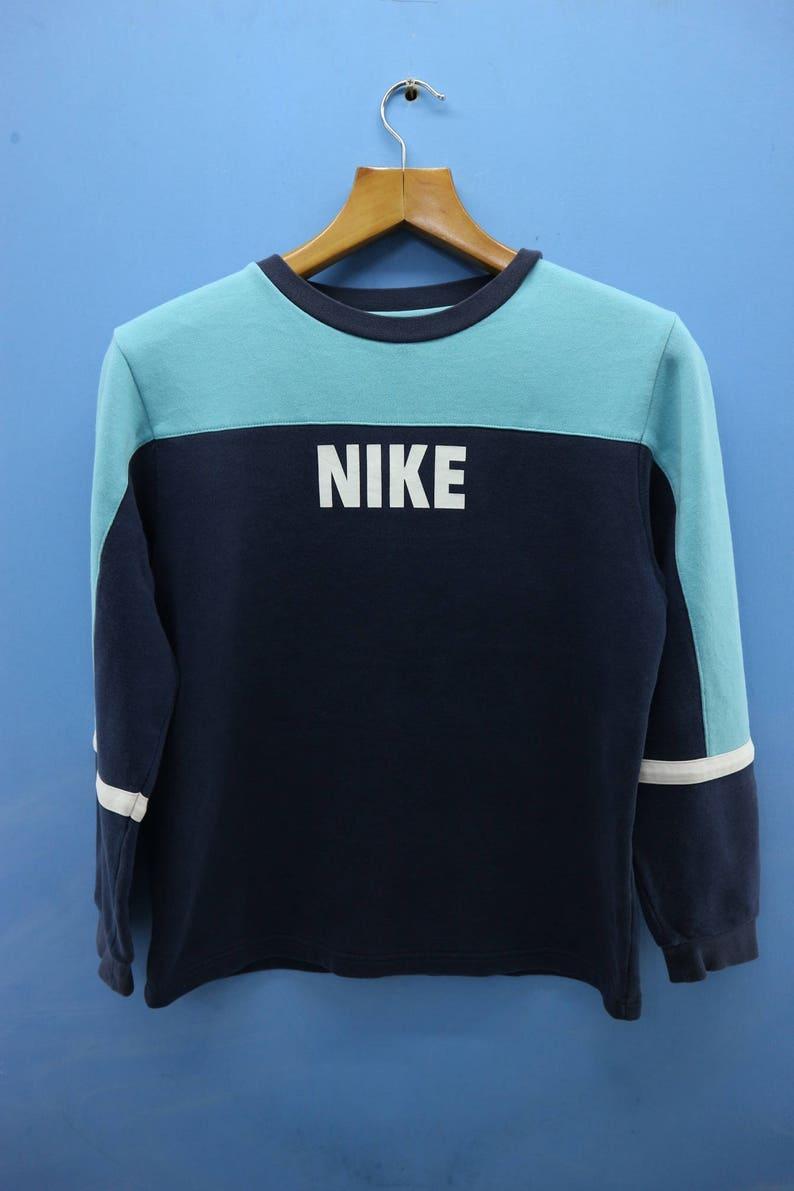 7982df4bda6f9 Vintage Nike Big Spell Out Logo Sport Sweatshirt Pull Over Crewneck Street  Wear Size L