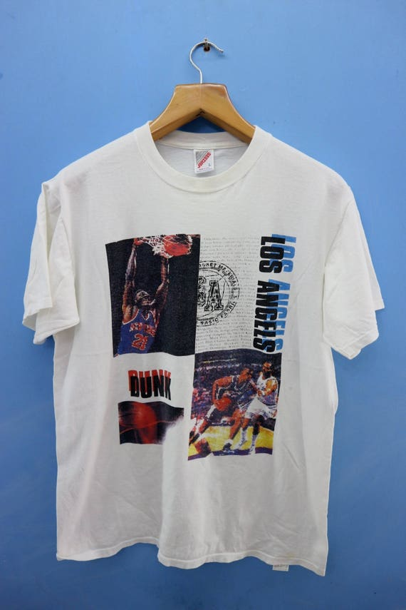Vintage Los Angeles Slam Dunk Basketball Shirt T Shirt Nba Top Etsy