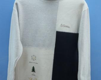 Vintage Ellesse Sweatshirt Pull Over Crewneck Urban Fashion Tennis Sweater Size S