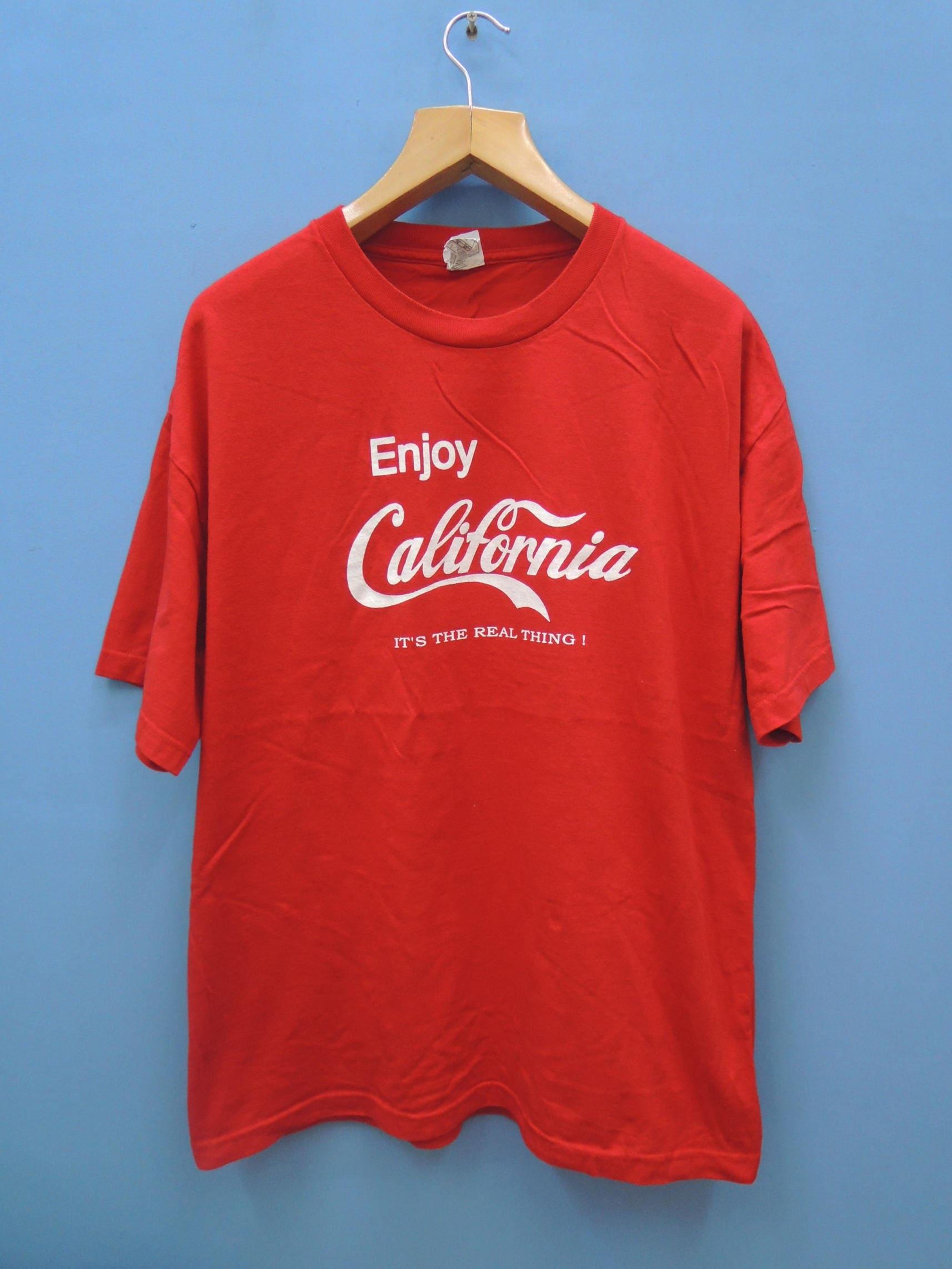 6b54ca6c66f Vintage California Big Logo Parody Coca Cola Shirt Souvenir