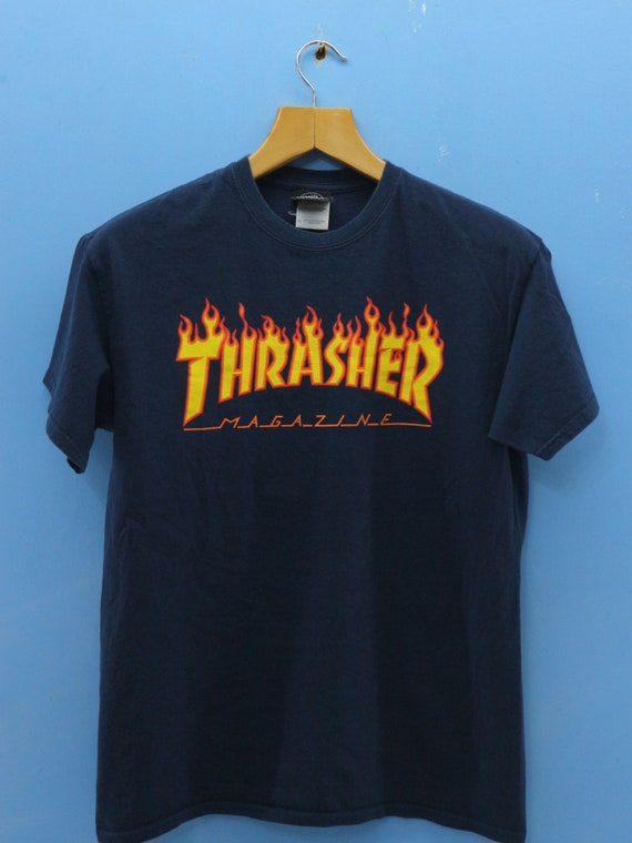 Vintage Thrasher Magazine T Shirt Punk Rock Band Big Logo  37fa5782e