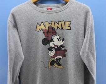 Vintage Minnie Mouse Big Logo Sweatshirt Cartoon Funny Sweater