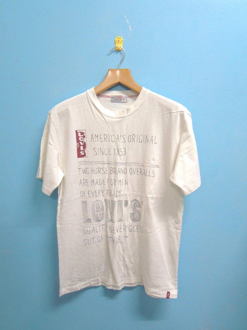 40e9ddebe4b Vintage levis red tab big print logo classic denim wear shirt etsy jpg  794x1059 Men levis