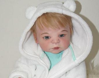 Ava Reborn Baby Doll Full body Vinyl Silicone 23 inch Girl Baby doll Anatomically correct