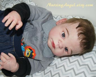 Reborn Toddler Boy Reborn Babies Doll Full body Vinyl Silicone 23 inch Boy Baby doll Anatomically correct