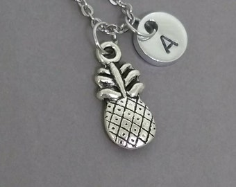 Pineapple Necklace, Pineapple Jewelry, Fruit Necklace, Fruit Jewelry, Personalized Necklace, Initial Necklace, Bridesmaid Gift