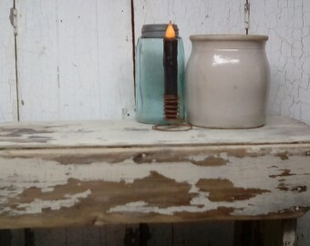 Antique Cream Color Chippy Paint Wooden Bench  Solid  Entryway Shabby Chic Wood Antique Wooden Bench L88