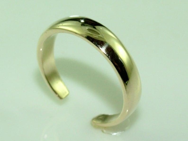 Toe Ring Adjustable 10K Gold Dome Knuckle