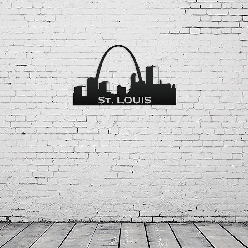 St Louis Skyline Metal Sign