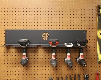 Cordless Drill Driver Organizer Hanging Mount Cordless Tool Storage Cordless Drill Holder Power Deck