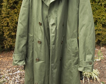 Distressed Pleather Trench Coat 1998