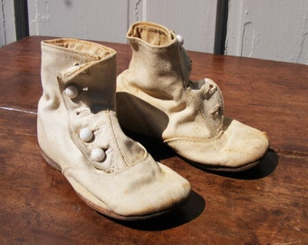 Antique Child Shoes Etsy