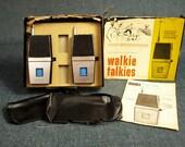 Vintage Fanon Explorer 2 Way Radio Walkie Talkies Model FCB-33A C.B. Transceiver Three Transistors Crystal Controlled - Works - with Box