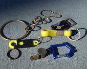 Lot of Keychains, Key Rings, Pitch Black Pocket Knife Bottle Opener and Flashlight Combo Whistle