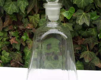 Decanters Vintage Etched Glass Whiskey Decanter Eagle With Leaves Prohibition