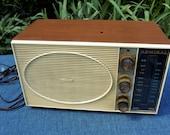 Vintage Admiral AM FM Tube Radio - Made in USA - Woodgrain Finish - Needs Repair