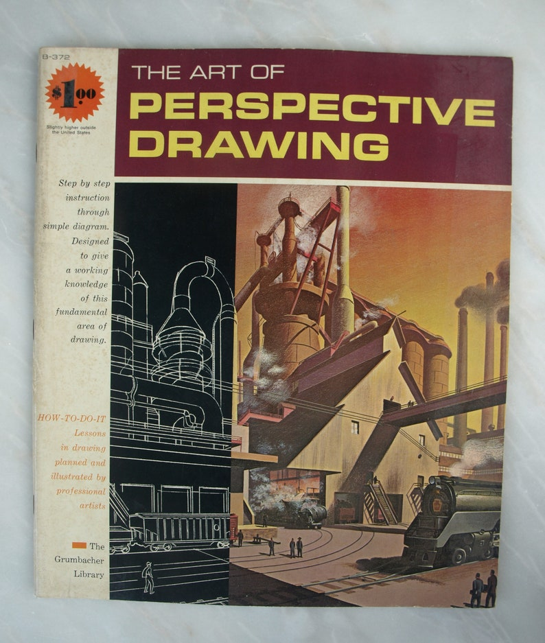 The Art Of Perspective Drawing By The Grumbacher Library (Paperback, 1968)  – Vintage How to Draw Art Instruction Book