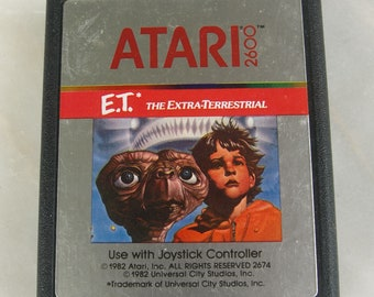 ET E.T. The Extra-Terrestrial ATARI 2600 Video Game – Cartridge Only 1982
