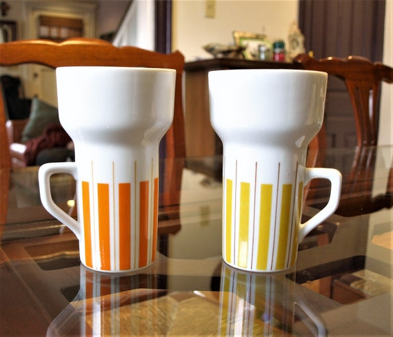 Set Of Mod Ice Cream Float Cups From Japan Retro / Vintage