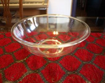 Pyrex Clear Glass Large Mixing Bowl #326- 4 Quart 3.8 L