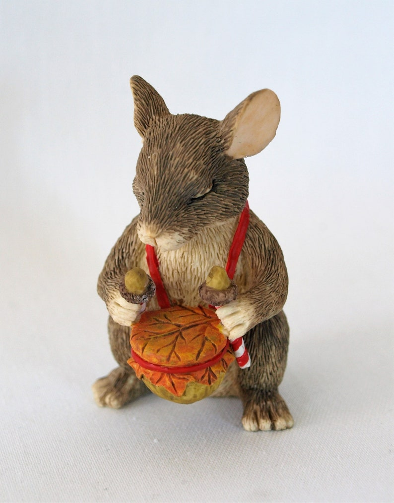 CHARMING TAILS BY DEAN GRIFF  SILVESTRI L/'IL DRUMMER MOUSE FIGURINE 87480~ NEW