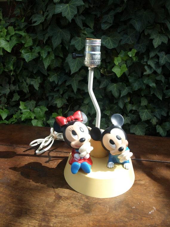 Walt Disney Inc. Baby Mickey und Minnie Mouse Lampe und nachtlicht  Underwriters Laboratories und Dolly Inc. 1984-Gummi-Zeichen
