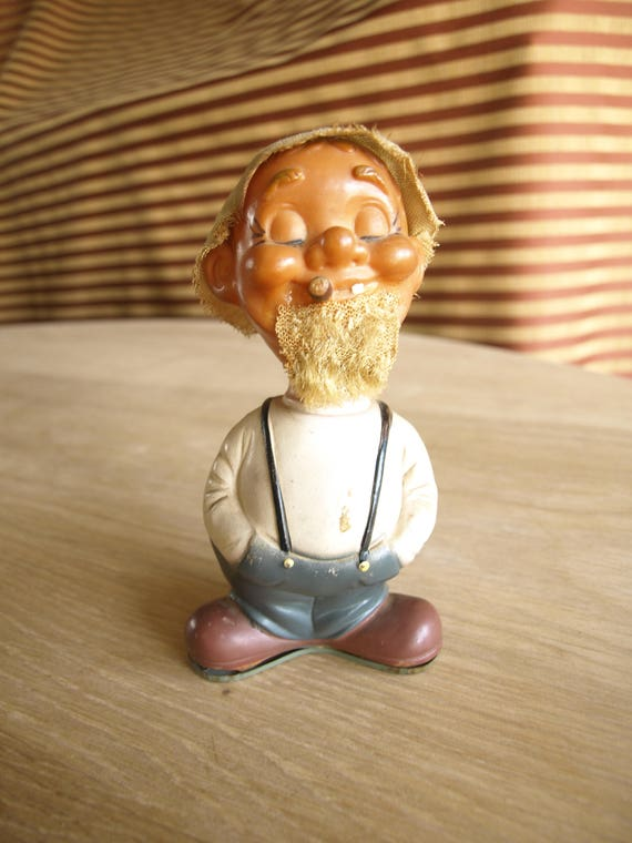 """6"""" vintage Wind Up Toy Country Boy Hillbilly ou Hobo Alpes Made in Japan"""