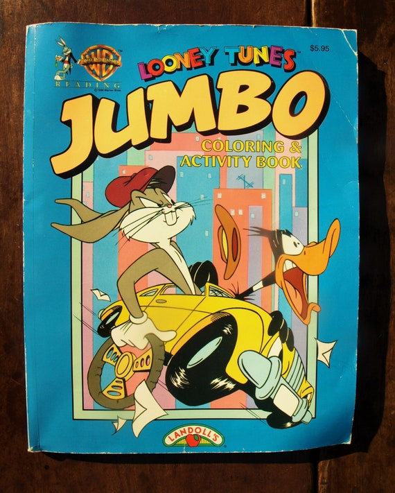 Looney Tunes Jumbo Coloring And Activity Book By Warner Etsy