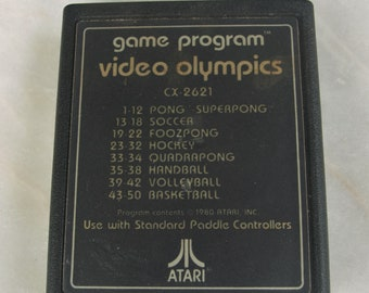 Atari 2600 Video Olympics Game Cartridge with text only 1980