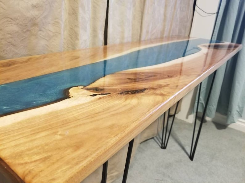 Sold Live Edge Table Resin River Table Wood Epoxy Resin Epoxy River Table Resin River Live Edge Wood Table Live Edge Resin Slab Table