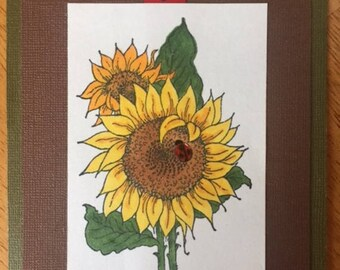 Sunflower Greeting - Blank Inside