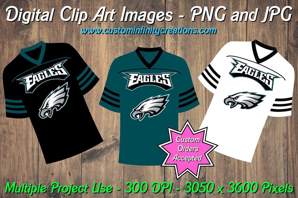 2bfff4e41c6 Philadelphia Eagles Football Team Jerseys Digital Clip Art   Etsy