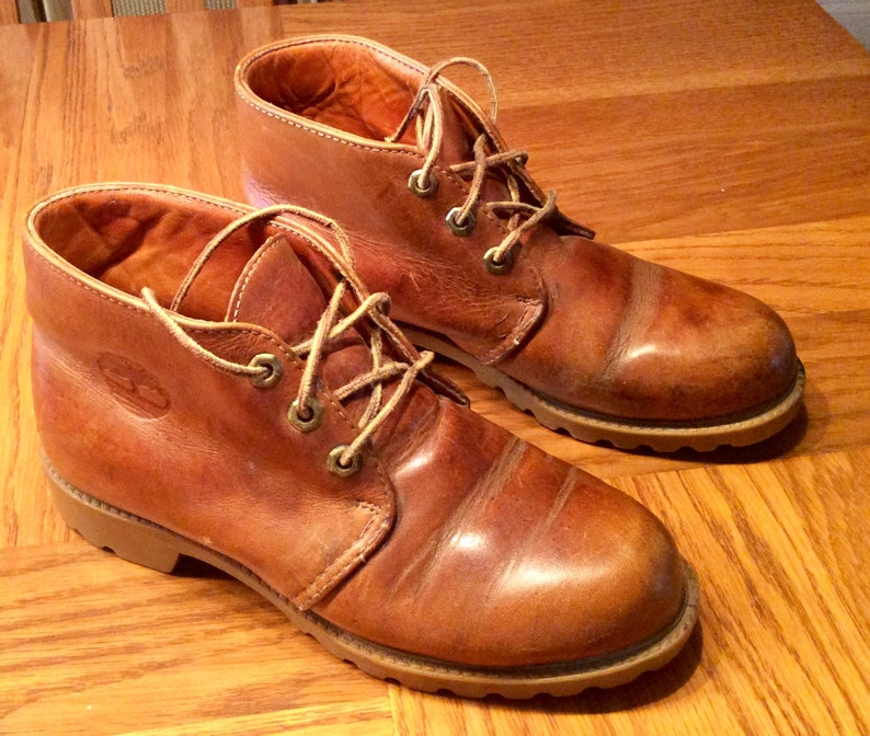 ed2b32ab4a6c7 Women's Classic Vintage Timberland Brown Honey Color Saddle Chukkah Boots -  Women's Size 7M - Eighty (80) Dollars or Best Offer
