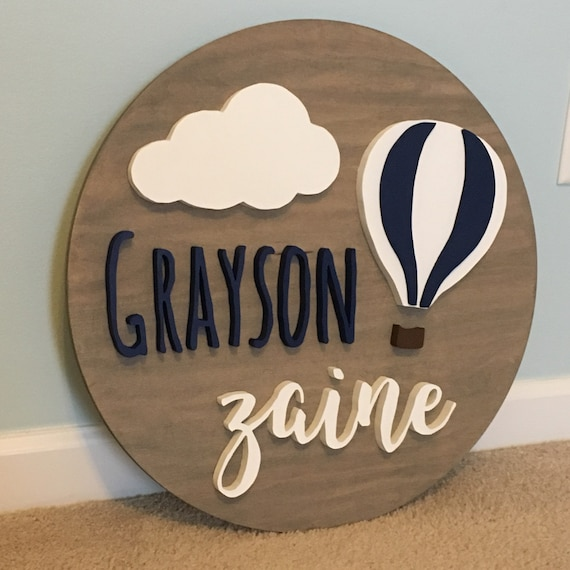 3D Name Sign Wood Baby Shower Gift Personalized Baby Shower Decor Cosmic Wall Art Wood Name Sign Travel Nursery Name Sign